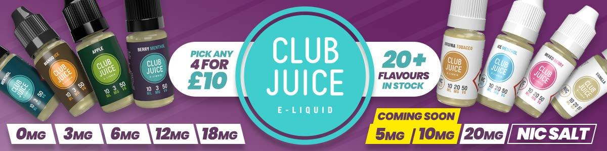 Club Juice Eliquids