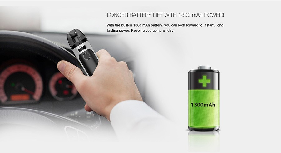 Thanks to the 1300mAh battery, the Tigon AIO will deliver a consistent power output over a longer period.