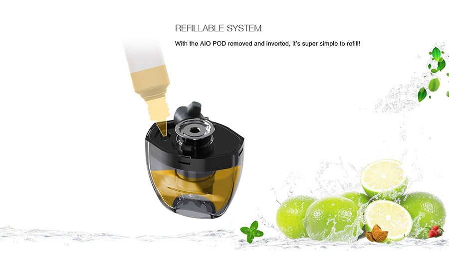 fitted with a one-way filling valve, each Tigon 2ml pod offers quicker and cleaner refilling.