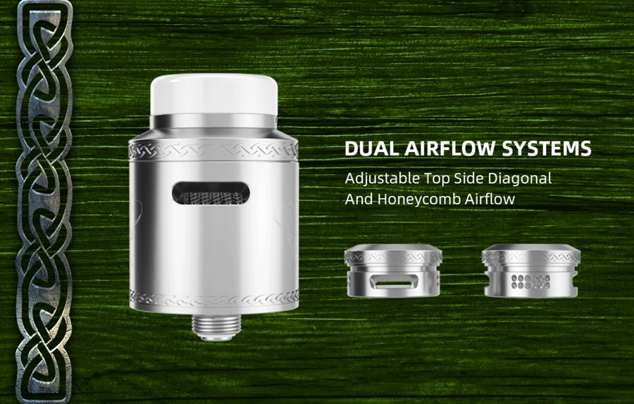 the newly designed dual airflow system allows for full control over vapour flow, there are two airflow options - diagonal and honeycomb.
