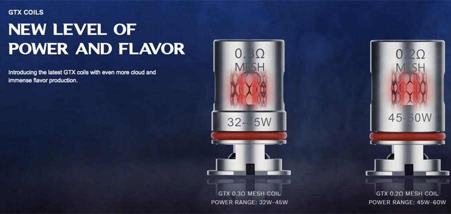 The Target PM80 pods employ the GTX mesh coil series, delivering clear flavour with large cloud production.