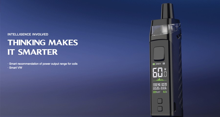 The PM80 Target 2000mAh pod kit features Variable Wattage mode with a maximum 80W output.