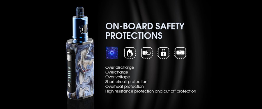 The Innokin intelligent chipset offers a range of inbuilt safety protections
