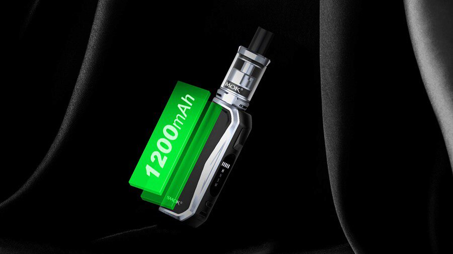 The Priv N19 kit uses a large capacity 1200mAh built-in battery