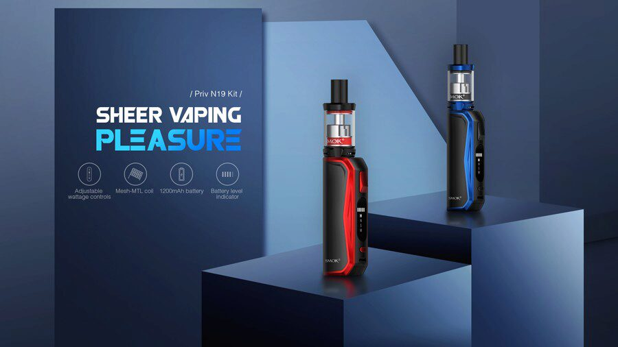 The Smok Priv N19 starter kit combines a compact design with multiple power modes