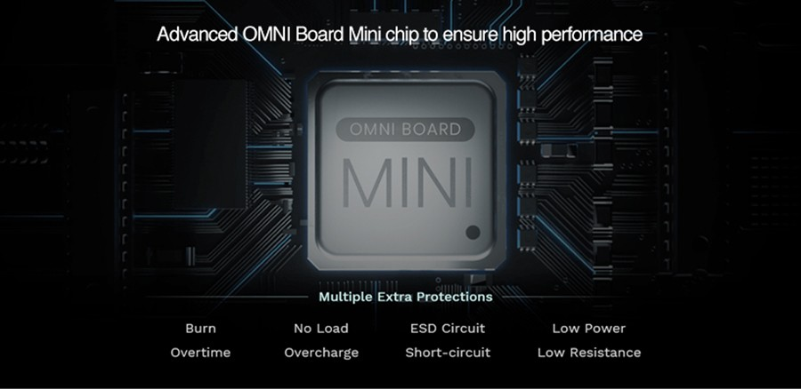 The Sky Solo Plus features a range of safety protections thanks to the Omni Board Mini chipset.