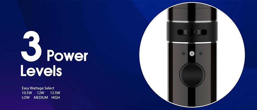 The Innokin Endura T18 II vape starter kit features three power levels to find your ideal vape.