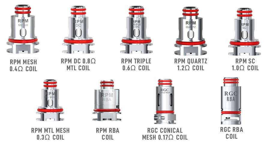 You can combine the Smok Fetch Pro pod kit with a range of mouth to lung and sub ohm vape coils.