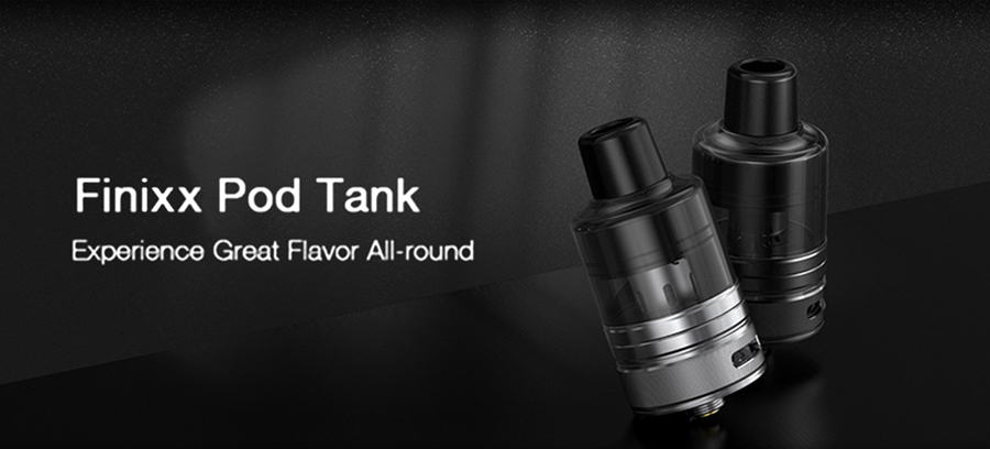 The Finnix 2ml pod tank features a bottom fill method, adjustable airflow and is compatible with the BP coil series.