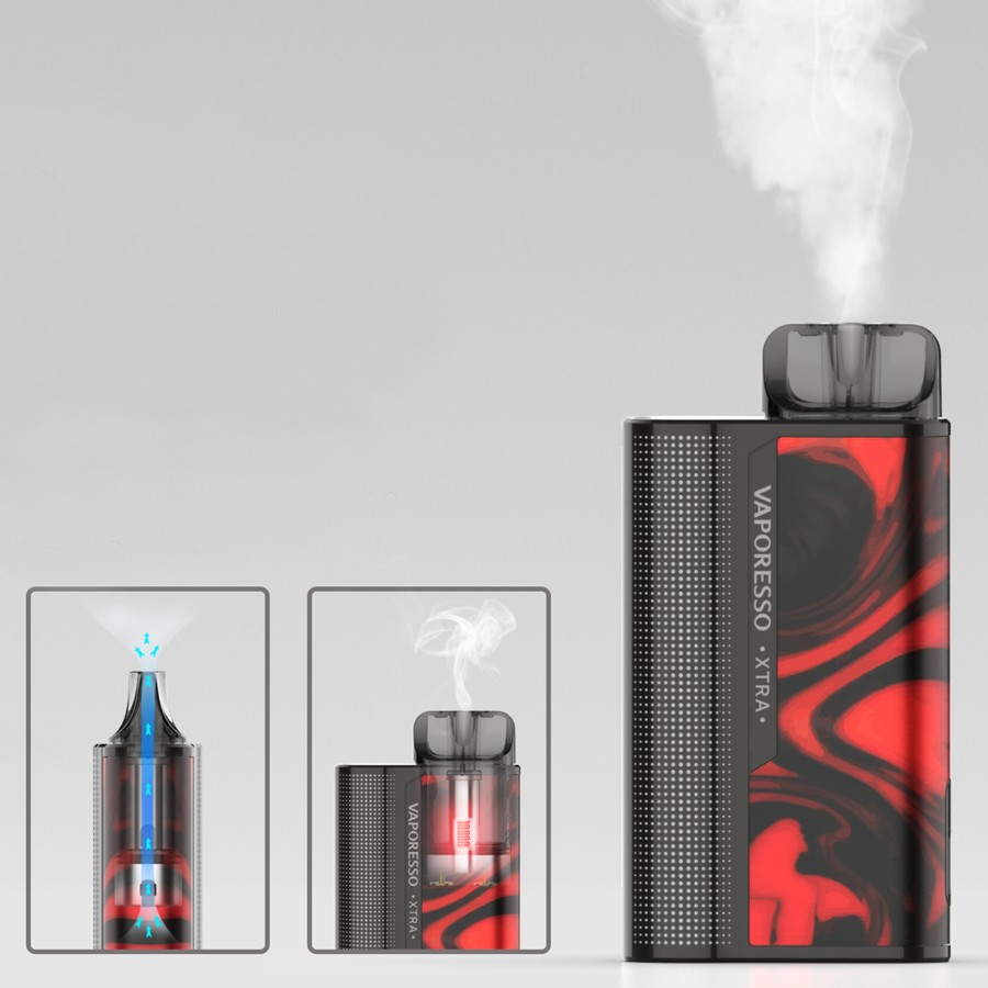 The XTRA pod kit utilises upgraded cotton wick in the 2ml UNIPODs, allowing for clear flavour.