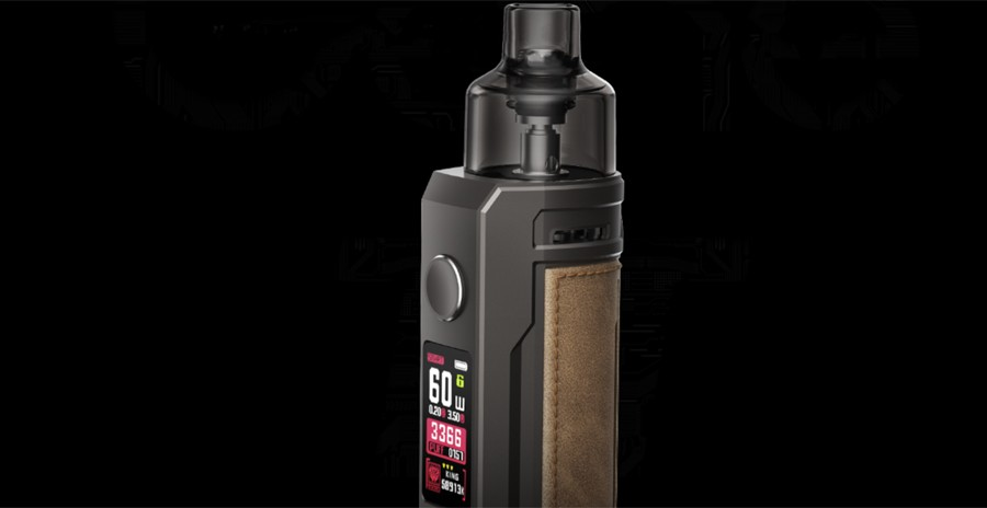 The intelligent Gene.TT chipset enables the Drag S pod kit to recognise which coil is installed and select and appropriate wattage.