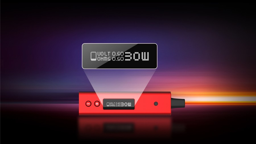 The Smok OFRF NexMesh sub ohm pod mod is powered by a 1200mAh built-in battery with a 30W adjustable output.