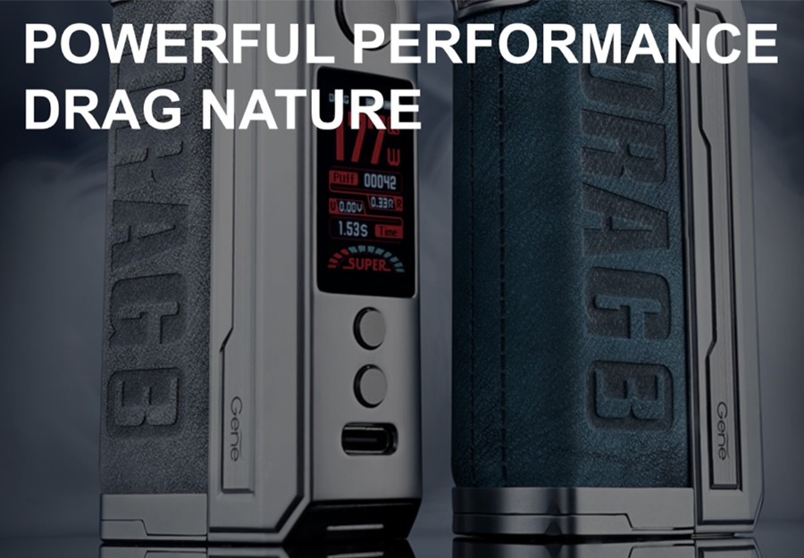 The VooPoo Drag 3 vape device combines a modern design with a high power output - for a premium sub ohm vape.