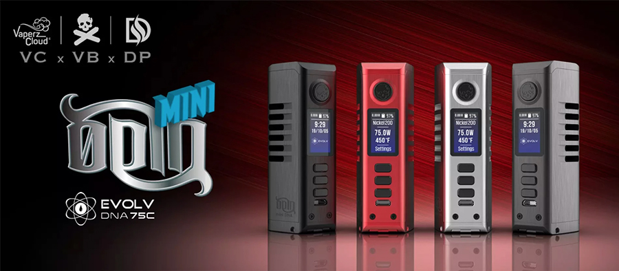 The DovPo Odin Mini DNA75C vape device combines a compact build with the latest technology for a performance-driven sub ohm mod.