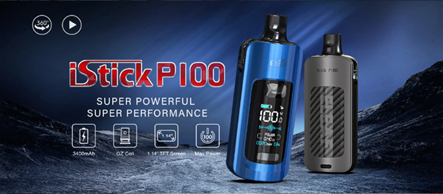The Eleaf iStick P100 is a powerful 100W sub ohm pod kit that remains simple to use.