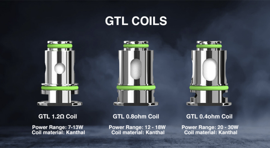 Compatible with the Eleaf GTL coil range, there are three options available giving you the choice of either MTL or DTL vaping.
