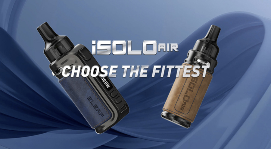 The Eleaf iSolo Air is a pocket-friendly pod kit that is simple to use and features a long-lasting rechargeable battery.