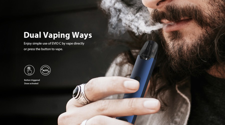 Thanks to the option of either inhale activation or single button activation, you can use the Evio C kit by Joyetech your way - for a vape that feels more natural.