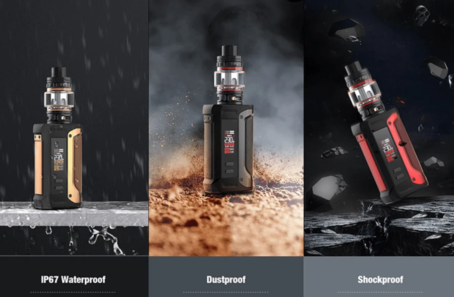 Well-protected and featuring waterproof, dustproof and shockproof properties, the Smok Arcfox is a durable option.