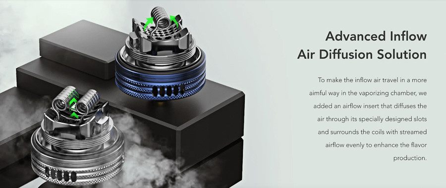 An advanced airflow system coupled with an adjustable airflow ring gives you the opportunity to discover your perfect vape - with your ideal level of vapour production.