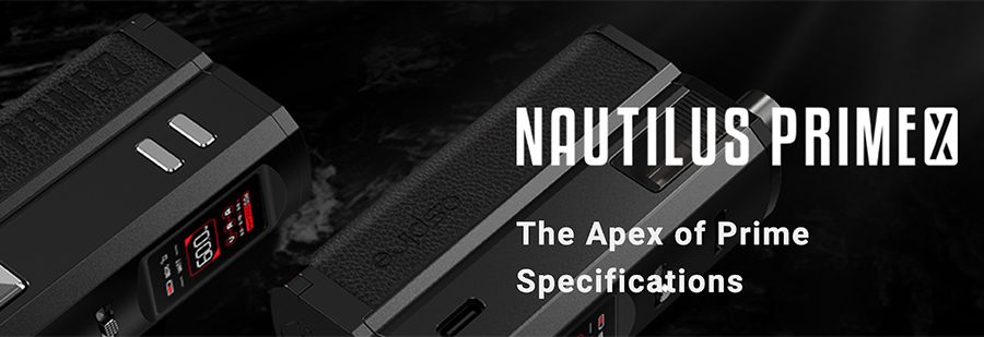 The Aspire Nautilus Prime X kit delivers customisability and simplicity in a small package, with a design that makes it simple enough to be used by every type of vaper including beginners.