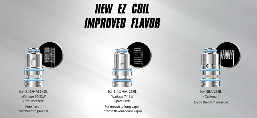 The Joyetech EZ coils come in two varieties to support both mouth to lung and direct to lung vaping, for a more custom vaping experience.