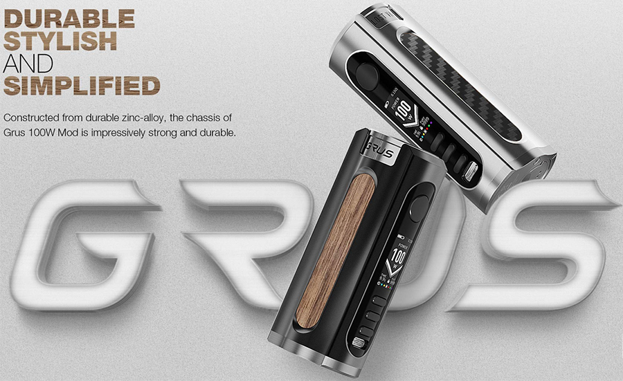 The Lost Vape Grus vape device has been designed for sub ohm vaping and features a high-end design.