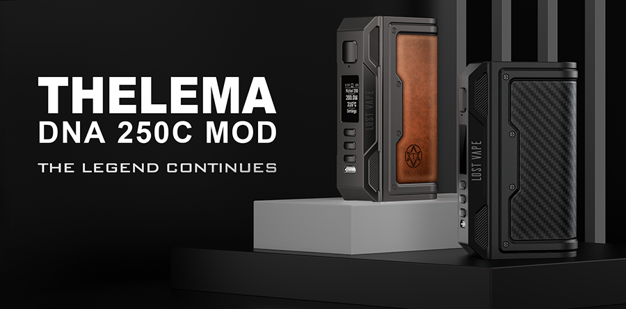 The Lost Vape Thelema delivers a high power output in a stylish frame, for an authentic high-end experience.