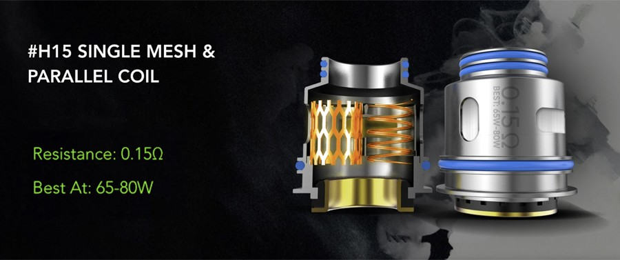 Designed exclusively for the NexMesh tank, the innovative H15 coil combines both a classic parallel build and mesh coil for increased vapour and production.