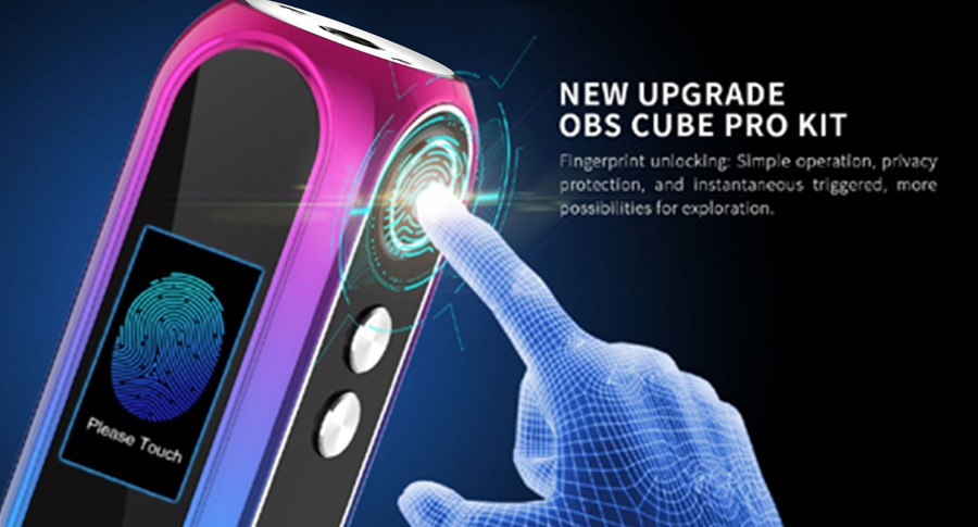 The 3000mAh Cube Pro features fingerprint recognition technology, able to store 6 fingerprints for authorised use.