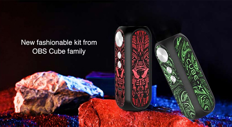 The OBS Cube X sub ohm mod features an eye-catching resin aesthetic and a 0.96 Inch OLED screen informing users of precise vaping data.
