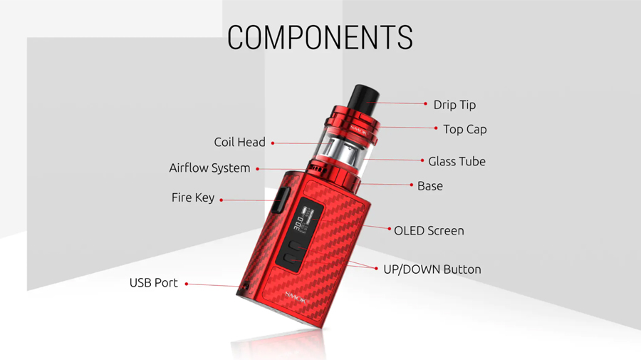 The Smok Guardian vape kit is ideal for vapers of all experience levels with a lightweight, stylish design.