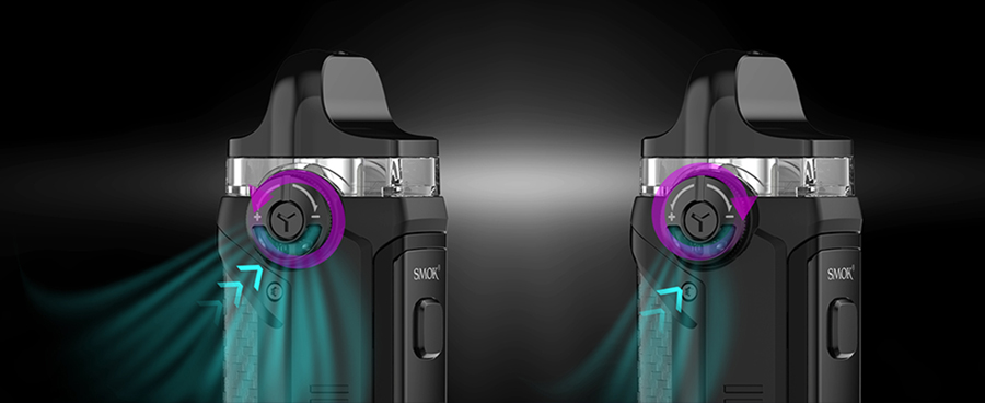 Thanks to the Smok IPX80's adjustable airflow you'll be able to control the flow of vapour for a tight or loose inhale. This means MTL and DTL vaping are fully supported.