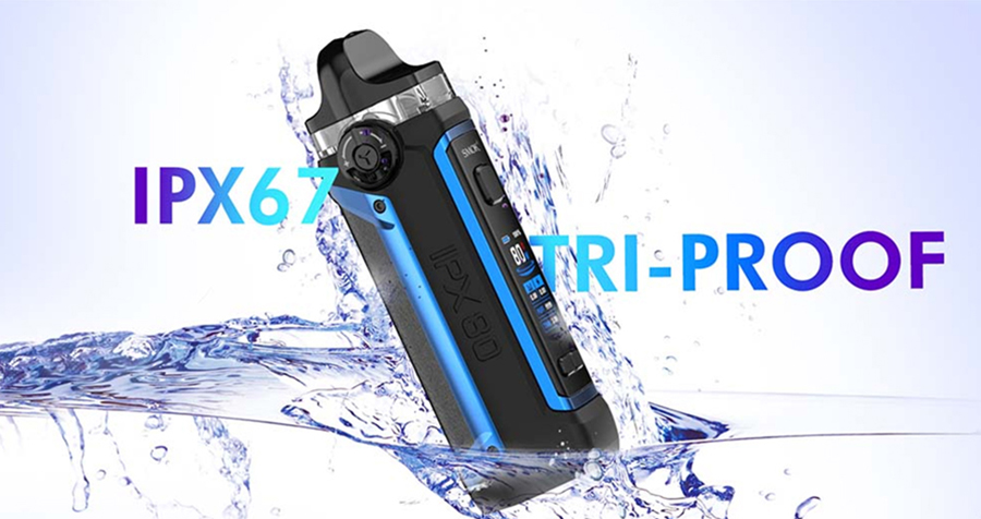 The Smok IPX80 is a compact pod kit that's waterproof, dustproof and shockproof, making it incredibly well protected.