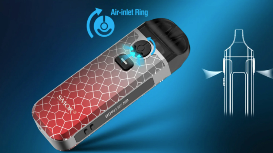 Use the adjustable airflow ring on the Smok Nord 4 kit to find your perfect inhale.