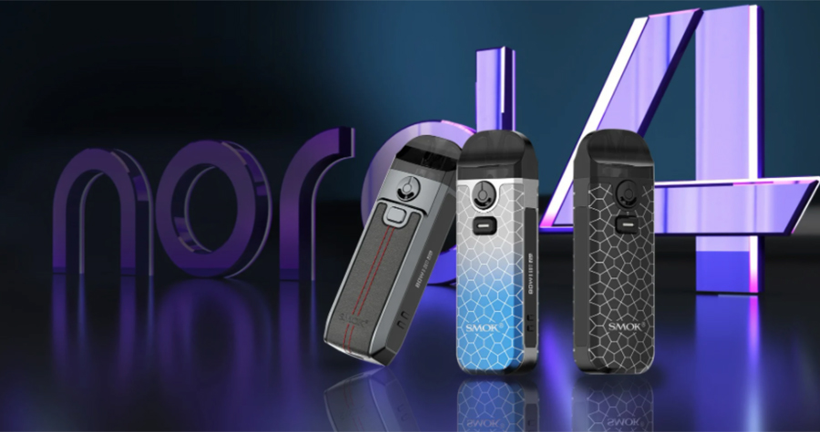 The Smok Nord 4 pod kit delivers a high power output and can be used for both MTL and DTL vaping.