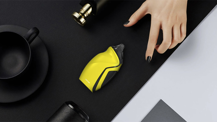 The Smok Nord Cube pod kit features a streamlined, ergonomic design with non-slip coating.