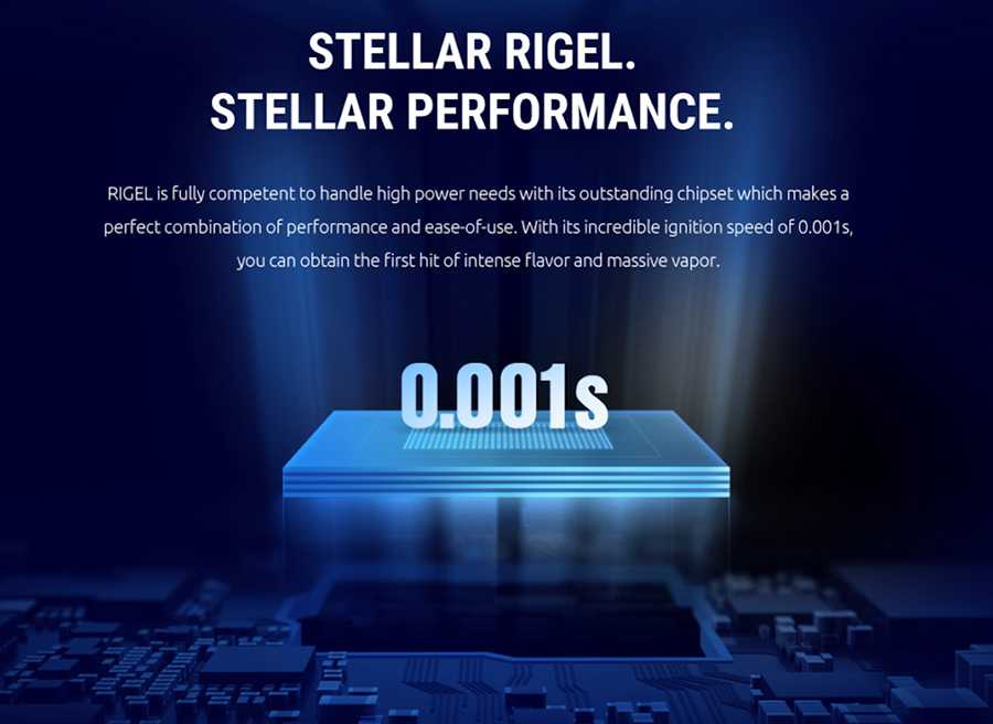 The 230W Rigel mod features an advanced chipset which boasts a 0.001 second firing speed for high performance.