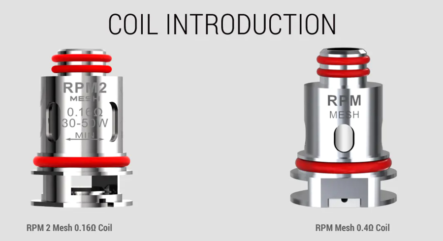 the Smok RPM coils included with Scar P3 pod kit give you the option to use high VG and high PG e-liquid.