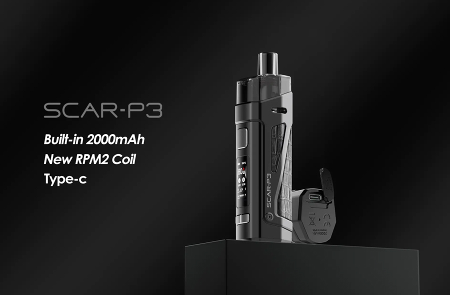 The Smok Scar P3 is a versatile pod kit that can be used effectively by vapers of all experience levels.