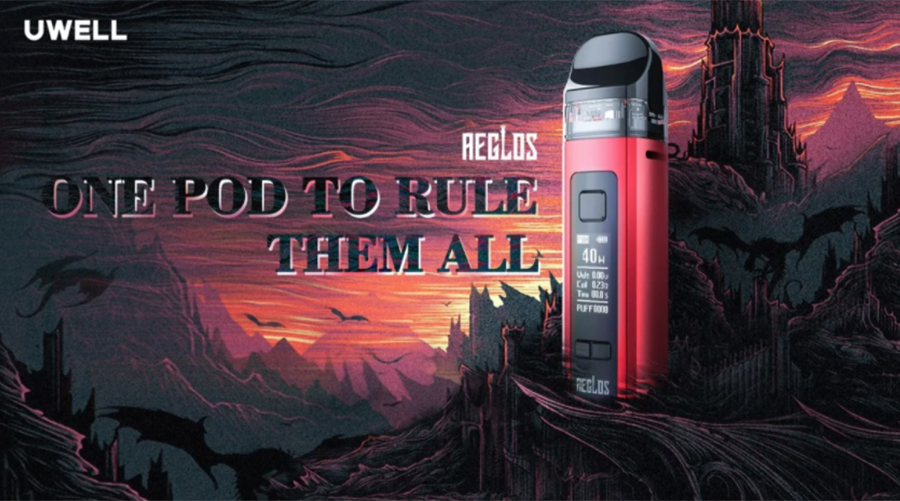 The Uwell Aeglos is a pocket-sized pod kit that supports both MTL and DTL vaping.