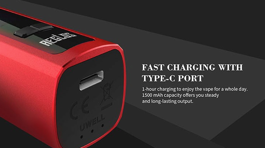 Powered by a 1500mAh built-in battery, the Aeglos features fast charging via the USB-C port.