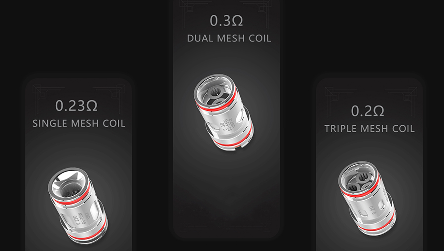 The Crown 5 vape tank is compatible with the Crown 5 mesh coils, available in a range of resistances and variants to suit specific vaping styles.