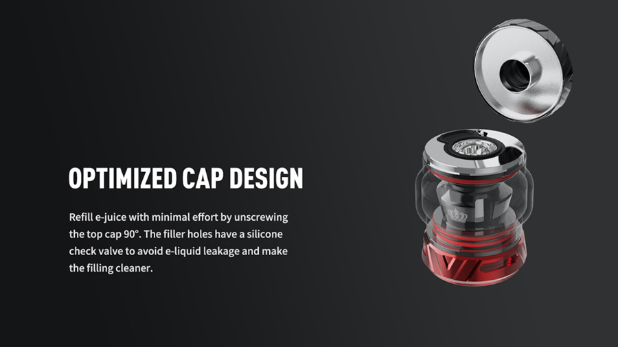 The Uwell Crown 5 tank not only produces a large amount of vapour, it also includes features to make upkeep even easier, features like top filling and adjustable airflow.