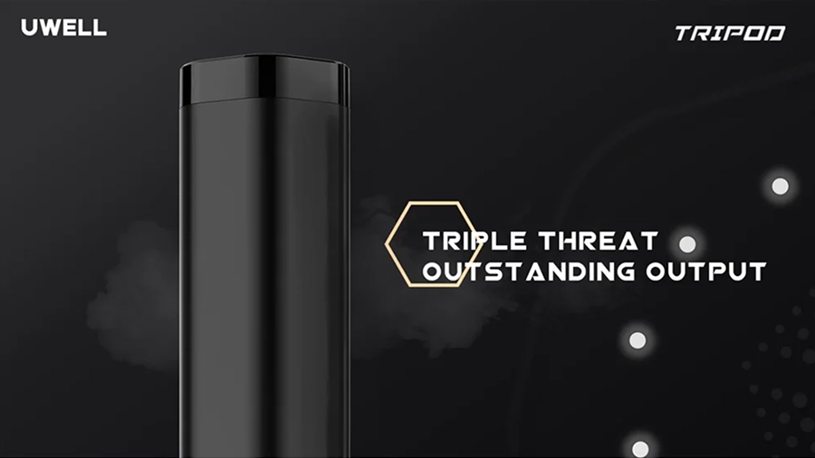 The Uwell Tripod vape kit is simple and portable, producing a discrete amount of vapour for MTL vaping.