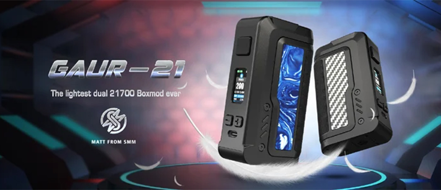The Vandy Vape Gaur-21 combines a high power output with a lightweight build for a powerful and pocket-friendly vape.