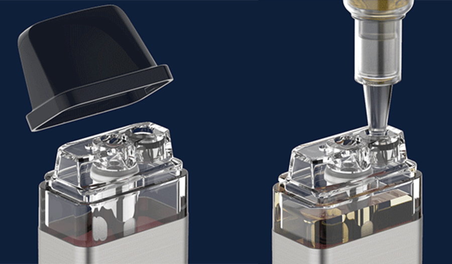 The XROS replacement pods feature a 2ml e-liquid capacity and can be refilled via the removable top cap.