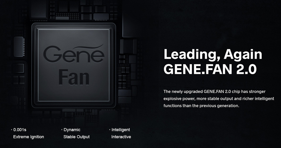 Utilising the newly developed GENE FAN 2.0 chipset, the Drag Max offers a fast ramp-up, a range of modes and protections against issues such as short circuits.
