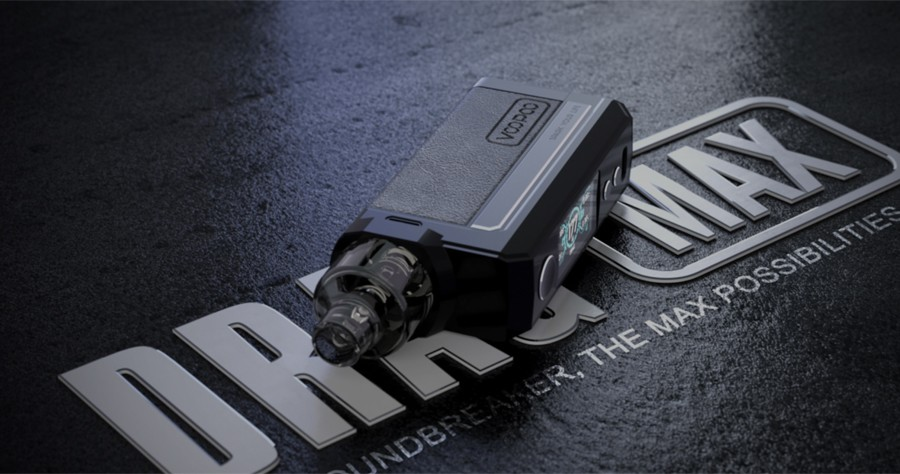 The VooPoo Drag Max is a sub ohm pod kit that combines a high power output with a sleek design.