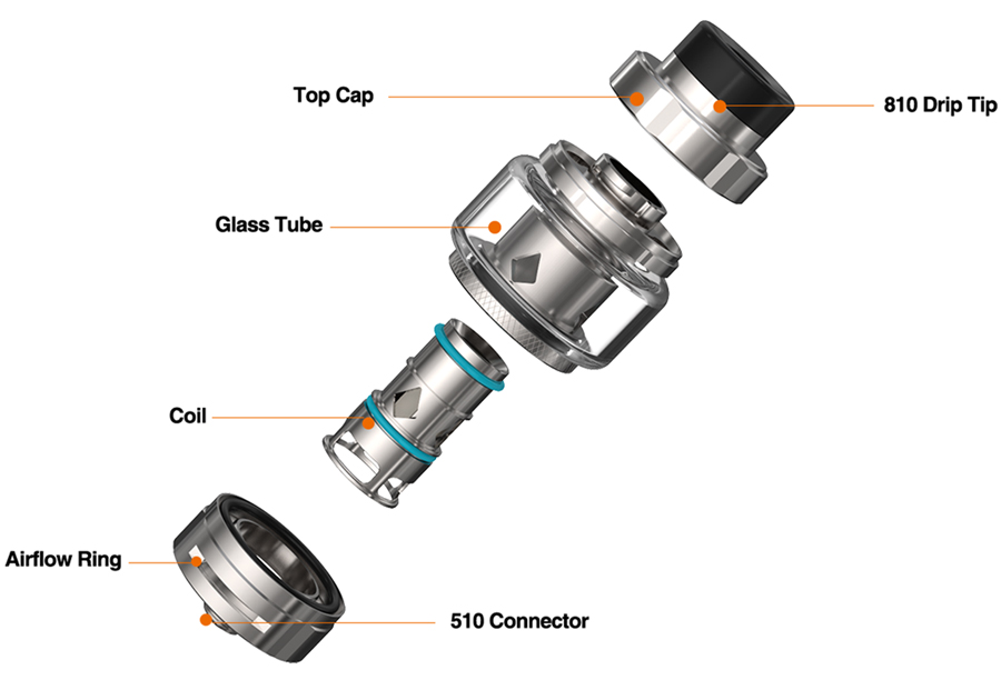 The Aspire Odan Evo is a sub ohm vape tank which features a 2ml e-liquid capacity as well as 25.6mm diameter.